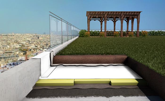 Green Roof  - tetti verdi Milano - membrane bituminose impermeabilizzanti